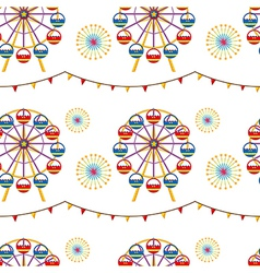 A seamless design with a carnival vector image vector image