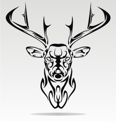 Abstract Deer Head vector image