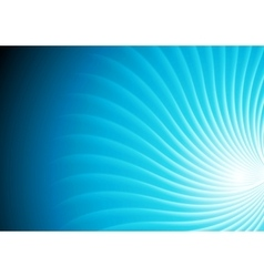 Abstract shiny blue swirl background vector image