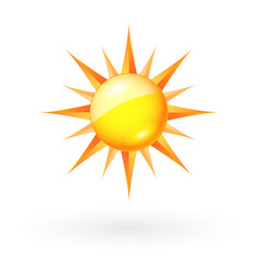 Abstract sun icon on white background for vector