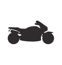 Bike pictogram silhouette vector