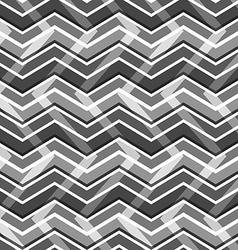 Black and white zig zag seamless pattern vector image vector image