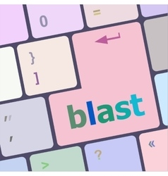 Blast button on computer pc keyboard key vector