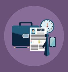 Business process icons set of portfolio cv vector