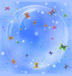 Butterflies on sky vector