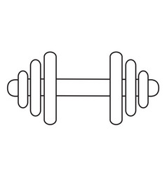 cartoon image of dumbbell icon barbell symbol vector image