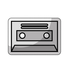 Cassette retro isolated icon vector