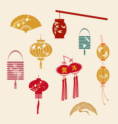 Chinese new year lanterns vector