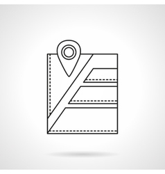 City navigation pin flat line icon vector