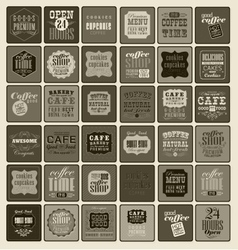 Coffee labels and elements vector image