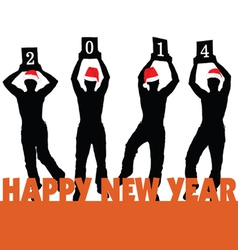 happy new 2014 year vector image
