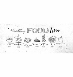 healthy food timeline vector image