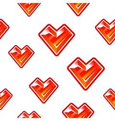 Heart diamond background vector image