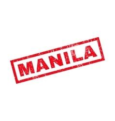 Manila rubber stamp vector