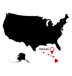 map of the us state of hawaii vector image vector image