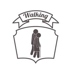 People walking design vector
