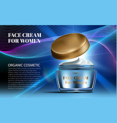 realistic women night cream for eye and face vector image