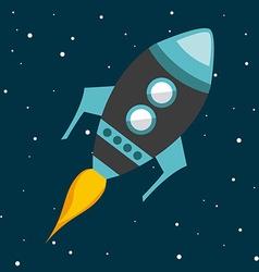 Rocket flying vector