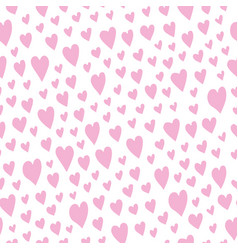 seamless pattern with beautiful hearts love vector image vector image