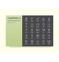 Set of thin hunting camping sport elements can be vector