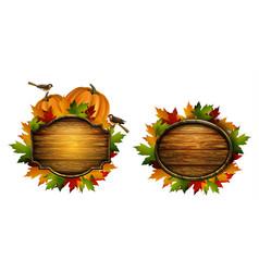 Set thanksgiving autumn composition vector
