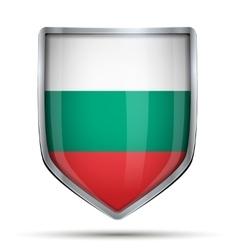 Shield with flag bulgaria vector