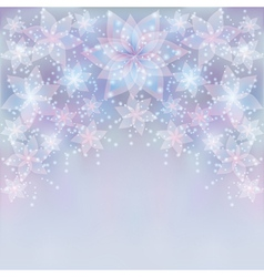Silver background with flower greeting or vector image vector image