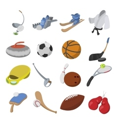 Sport cartoon icons vector image vector image