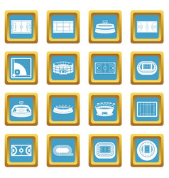 sport stadium icons azure vector image vector image
