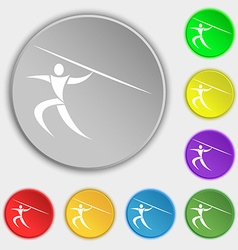 Summer sports javelin throw icon sign symbol on vector