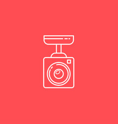 surveillance camera line icon sign for vector image vector image