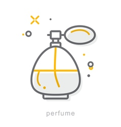Thin line icons perfume vector
