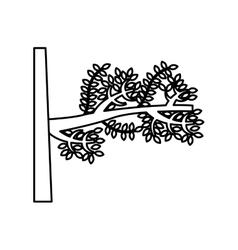 Tree branch isolated icon vector