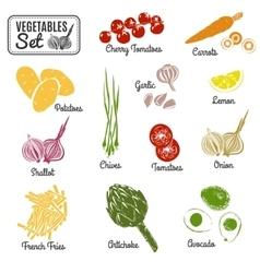 Vegetables set vector image vector image