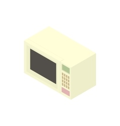 White microwave icon cartoon style vector image