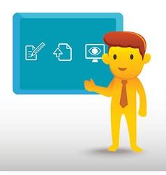 Yellow Man Presentation vector image