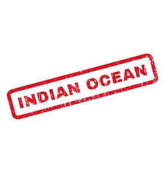 Indian ocean rubber stamp vector