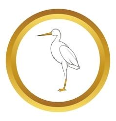 White crane icon vector image
