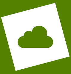 cloud sign   white icon vector image
