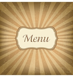 Retro label with menu vector