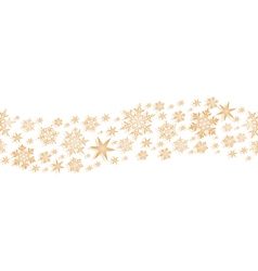 Golden seamless border with stars and vector