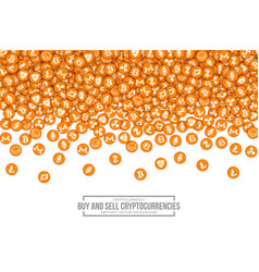 3d cryptocurrency bitcoin icons vector