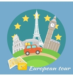 European Tour vector image