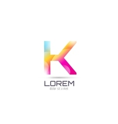 K logo template abstract arrow shape and vector