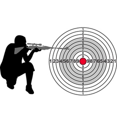 Target for shooting range vector