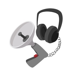 Spy listening device cartoon icon vector
