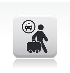 Taxi travel icon vector