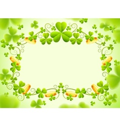 St patricks holiday frame vector