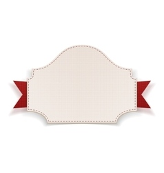 White badge with red ribbon vector