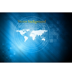 Blue technical background vector image vector image